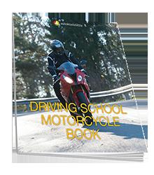 Driving school motorcycle book